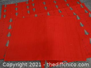 Red Christmas Placemats