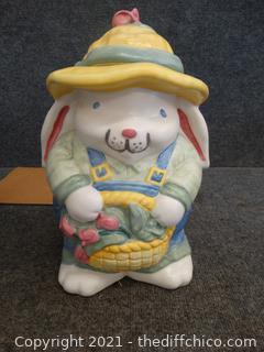 Treasure Craft Rabbit Cookie Jar