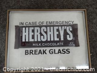Framed In Case Of Emergency Hershey's Chocolate Bar