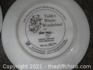 2 Numbered Bear Plates