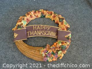 Ceramic Happy Thanksgiving Decor