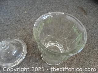 Glass Decor With Lid