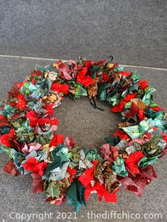 Material Christmas Wreath