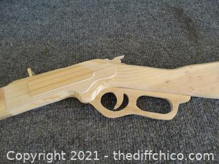 Wood Carved Riffle