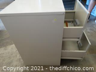 "Metal Filing Cabinet 28"" X15"" X18"""