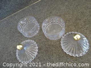 2 Plastic Candy Dishes