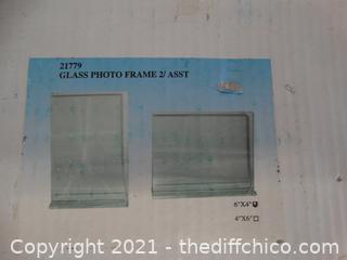 Glass Picture Frames NIB