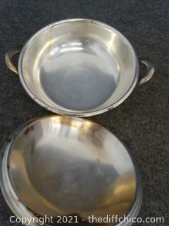 US NAVY Reed & Barton  Serving Dish Silver Soldered 3600 8