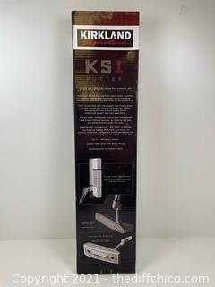 ($139.99) Kirkland Signature Golf KS1 CNC Milled Putter with Super Stroke New in Box