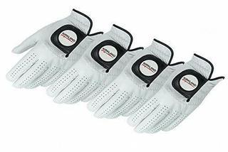 KIRKLAND SIGNATURE Golf Gloves Premium Cabretta Leather, Large, 4-Pack