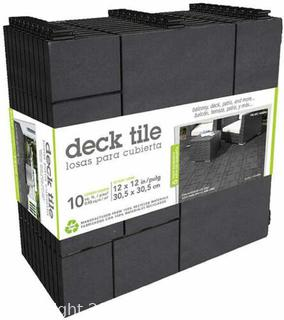 Multy Home Deck Tile 12 inch x 12 inch Mosaic Slate - 10 Pack