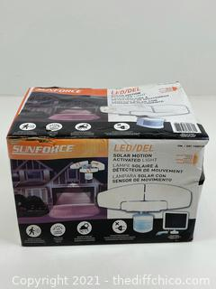 Sunforce Solar Powered Motion Activated LED Security Light