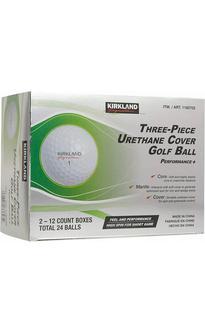 NEW Kirkland Signature Three-piece Urethane Cover Golf Balls - 24 Count