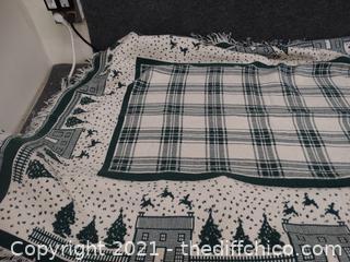 "Christmas Throw Blanket 70"" x 48"""