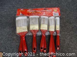 10 pc Heavy Duty Paint Brushes