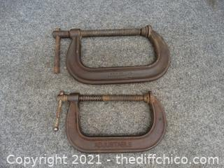 """6"""" Adjustable C-Clamps"""