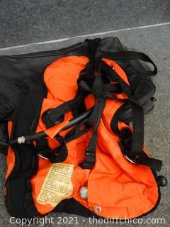 Black Bag With Scuba Gear