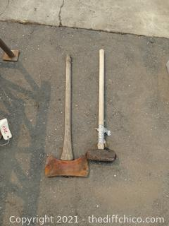 Sledge Hammer & Double Edged Axe