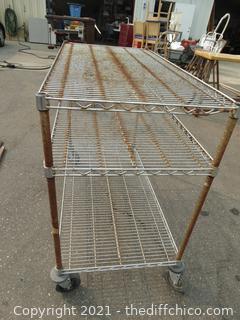 Rolling Metal Cart