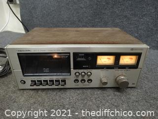 Realistic  Stereo Cassette Deck Powers ON