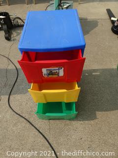 Colorful Plastic Drawers