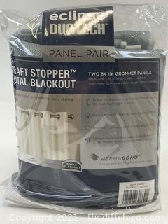 """Eclipse Duotech 84"""" Blackout Curtains, 2 Panels"""