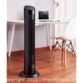 OmniBreeze, Oscillating Tower Fan w Multi Speed + Remote Control