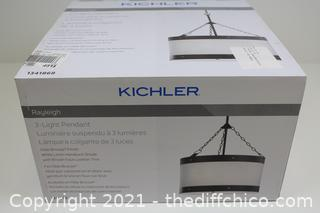 NEW ($149) Kichler Rayleigh Olde Bronze Farmhouse Drum Pendant Light