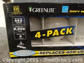 4 Pack Of Globe Light Bulbs