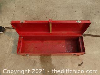 "Craftsman  Red Tool Box 30"" x 8 1/2"" x 10"""
