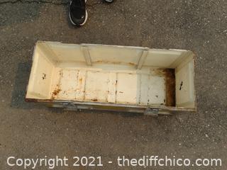 "Metal Military Box 28 1/2"" x 11 1/2"" x 12"""