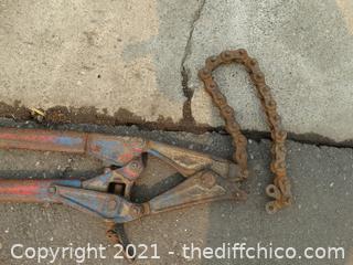 Cast Iron Plumbing Pipe Cutter