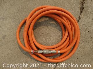 "10 ft Orange  3/8"" Air hose"