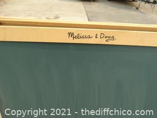 Melissa & Doug Chalk & Coloring  Board