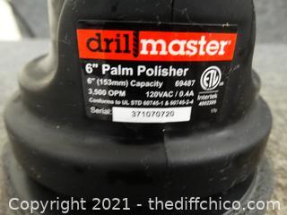 "Master Drill 6"" Palm Sander Works"