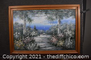 Framed Original Oil-not signed