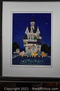 Framed Lithograph Signed, Number plus COA