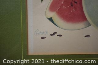 Vintage Framed Chico Print