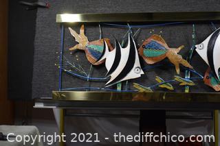 Metal Fish Art Wall Hanging
