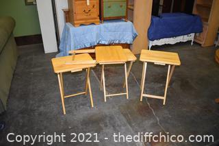 4 Folding TV Trays