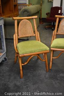 4 Rattan Chairs