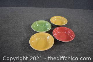 4 Royal Norfolk Stoneware Bowls