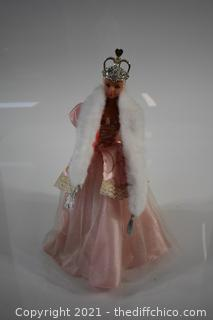 Collectible Barbie Doll w/Stand