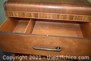 Vintage Waterfall 4 Drawer Dresser