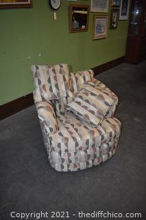 Lazy Boy Rocker, Swivel Chair w/pillows