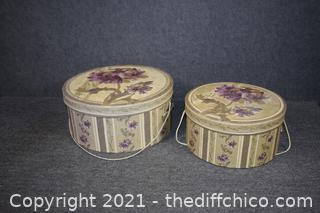 2 Decorative Hat Boxes