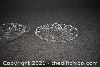 2 Crystal Dishes