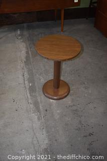 Round Table with Metal Base