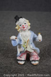 Porcelain Clown Figure