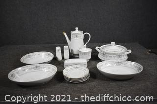 16 Pieces of Replacement Dishes - Diane Pattern